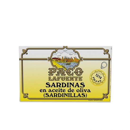 Petites sardines à l'huile d'olive Paco Lafuente