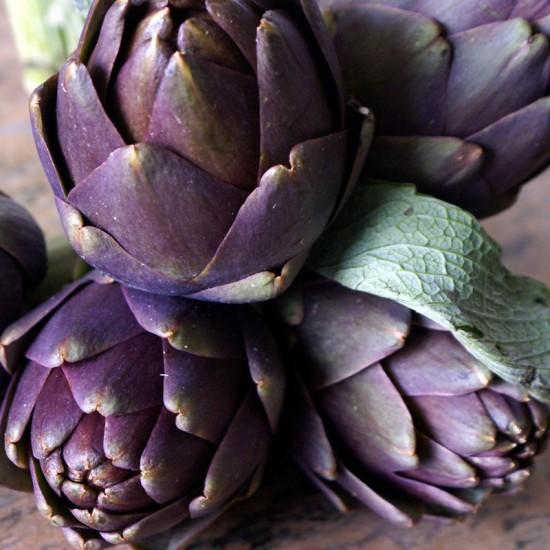 petits artichauts violets