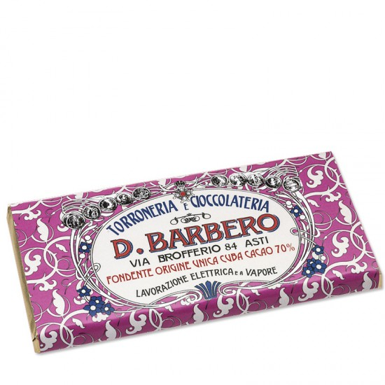 Tablette de chocolat 70% Cuba Barbero