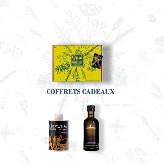 coffret huiles d'olive Grèce et Portugal