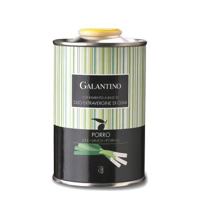 Spécialité d'huile d'olive et de poireau