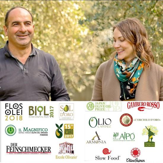 Huile d'olive italienne primée