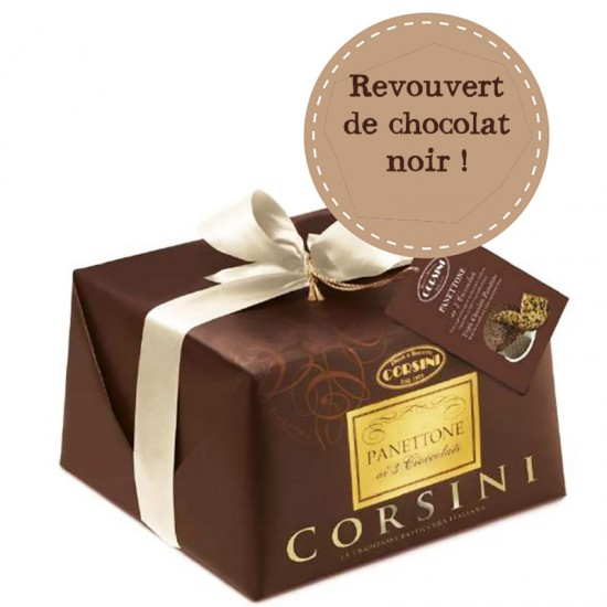 Panettone CORSINI aux 3 chocolats