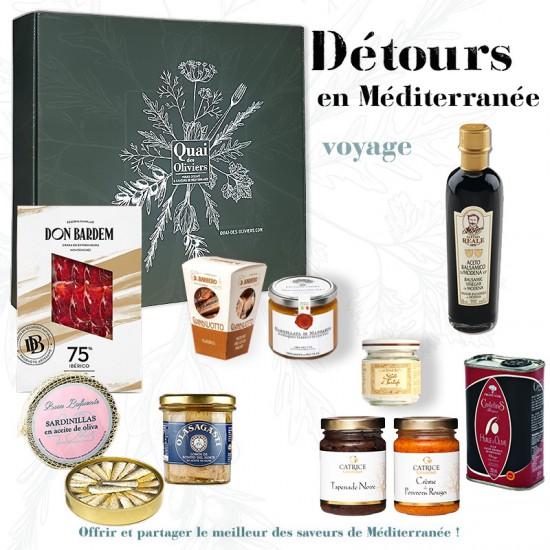 DETOURS en Méditerranée coffret cadeau gourmand