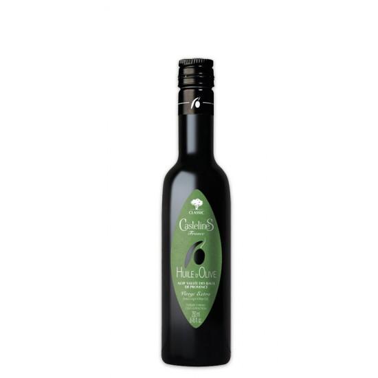 """Huile d'olive Castelas """"Fruité vert"""" DOP vallée des Baux"""