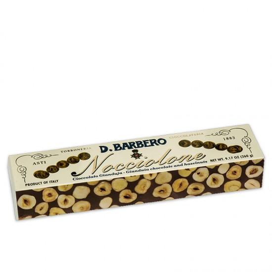 Barre de chocolat Gianduja et noisettes du Piémont Barbero Davide