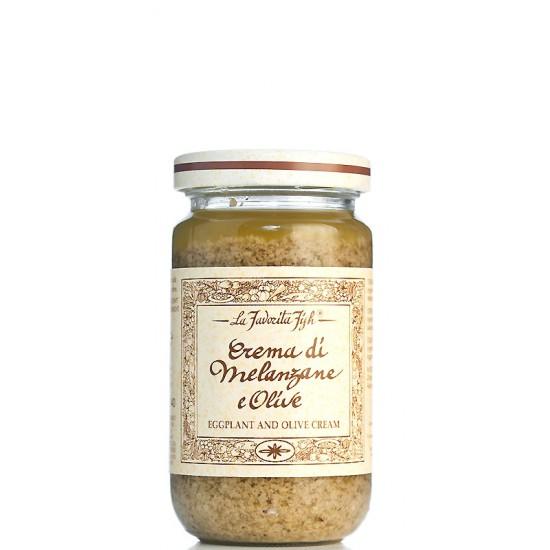 Crème d'aubergine aux olives