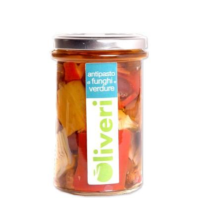 Antipasti de légumes et chamignons